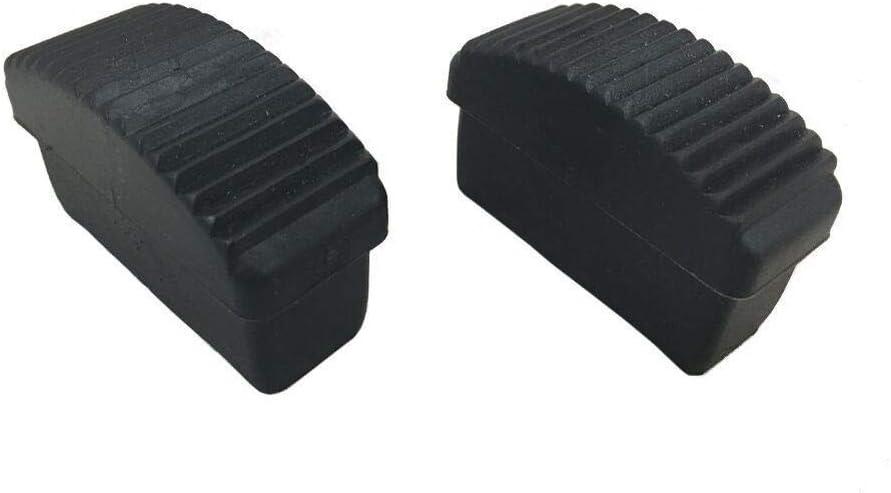 LY Tools Lot de 2 Pieds de Rechange en Caoutchouc pour escabeau 35 x 25 mm
