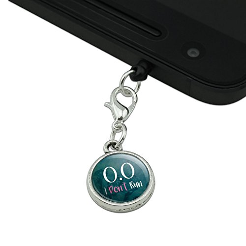70%OFF 0.0 Marathon I Don't Run Funny Non Runner Mobile Cell Phone Headphone Jack Anti-Dust Charm fits iPhone iPod Galaxy