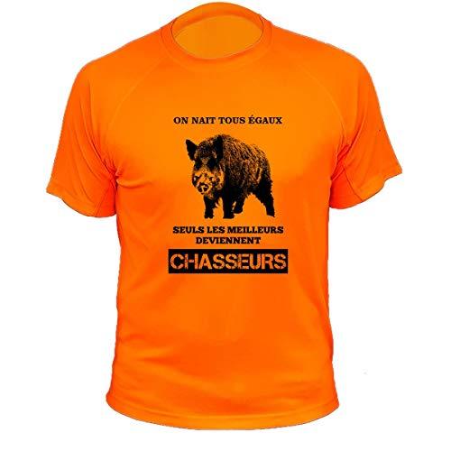 Tee Shirt Chasse on nait Tous égaux Sanglier 1