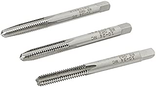 product image for Kodiak Cutting Tools KCT201716 USA Made Hand Threading Tap Set, Includes Taper, Plug and Bottom Taps, H2 Limit, Ground Threads, High Speed Steel, 4 Flute, 10-24 Size (Pack of 3)