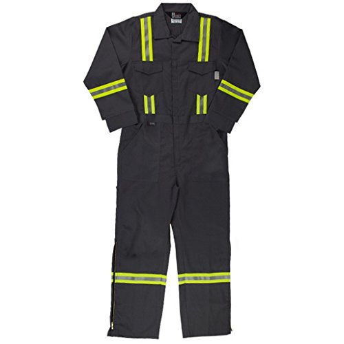 Oil and Gas Safety Supply Men's FR Reflective Coverall 50/XL Gray - Flame Retardant Suit