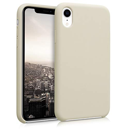 kwmobile TPU Silicone Case Compatible with Apple iPhone XR - Soft Flexible Rubber Protective Cover - Beige Matte