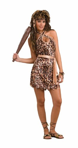 Forum Novelties Woman's Cave Beauty Costume, Black/Brown, One Size