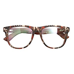 Real Bamboo Wood Temples Eyeglasses Frames Men Women Retro Spectacle Wooden Arm Foot Eyewear (CAMO BR 10415)