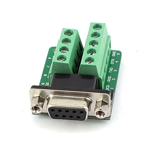Copapa Connector DB9 RS232 D-SUB Female Plug 9-pin Port Adapter to Terminal Connector Signal Module