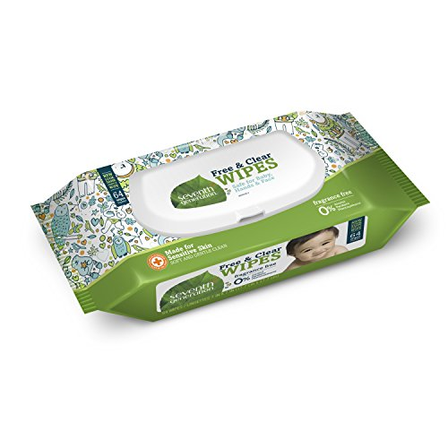 Seventh Generation Thick & Strong Free and Clear Baby Wipes with Flip Top Dispenser, 768 Count