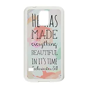 Nymeria 19 Customized He Has Made Everything Beautiful In It's Time Diy Design For Samsung Galaxy S5 Hard Back Cover Case DE-252