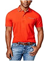 Tommy Hilfiger Mens Anthony Contrast-Trim Rugby Polo Shirt