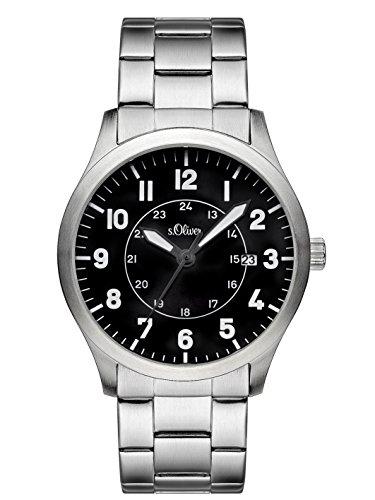 s.Oliver Herren-Armbanduhr Analog Quarz Edelstahl SO-3127-MQ