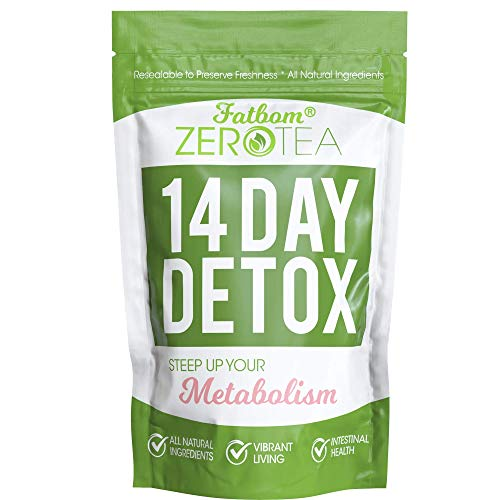 Zero Tea 14 Day Detox Tea, Weight Loss Tea, Teatox Herbal Tea for Cleanse (Best Tea To Lose Weight Fast)