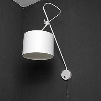 Loft Wandleuchte In Weiß Extrem Flexibel Verstellbar Mit Schalter E14  Wandlampe Innen Beleuchtung Wohnzimmer Schlafzimmer Lampen