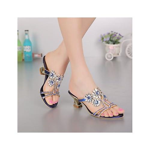 b37ff9a2a Durable Modelando El mejor regalo para mujer y madre Mujer Zapatos  Poliuretano Primavera Verano Botas de Moda Sandalias Tacón Cuadrado Puntera  abierta ...
