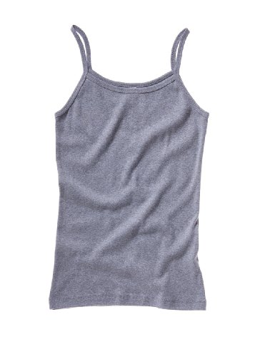 Bella Women's 5.8 oz. Cotton Baby Rib Spaghetti Strap Tank Top (XL / DEEP HEATHER)