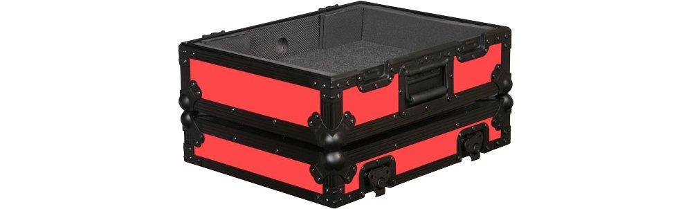 Odyssey FR1200BK Designer Series Turntable Case Red FR1200BKRED