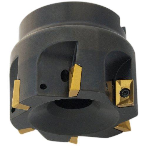 Dorian Tool E90A Indexable Positive Face Mill Insert Holder, 5 Flutes, 90 Degree, 1-3/4'' Overall Length, 1'' Shank Diameter, 3'' Mill Diameter