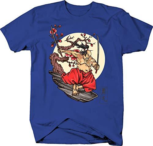 (Japanese Samurai Katanas and Tattoos Against Cherry Blossoms Tshirt XLarge)