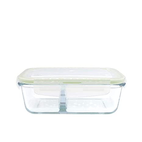 GLBoo Recipientes de Vidrio 800 ml con Compartimentos ...