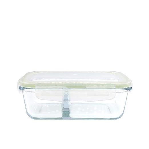GLBoo Recipientes de Vidrio 800 ml con Compartimentos Fiambrera ...