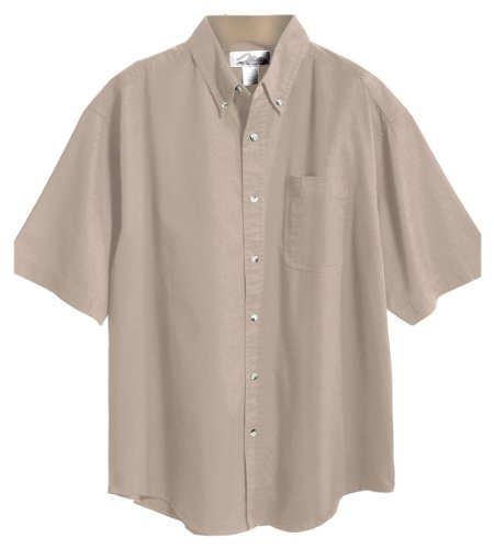 Tri-Mountain Men's Peak Performers Big and Tall Woven Shirt