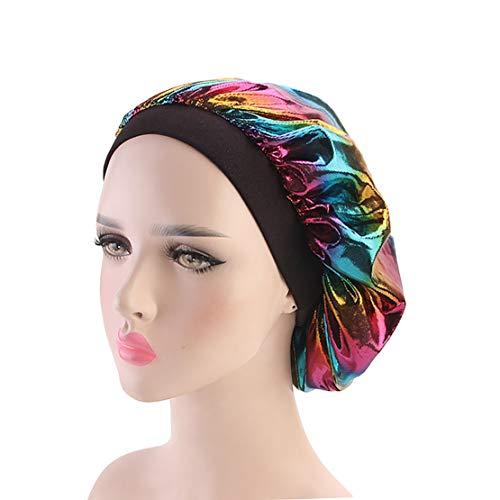 Satin Bonnet Sleep Cap for Women, Satin Sleeping Cap Night Hat Head Cover for Natural Hair Loss