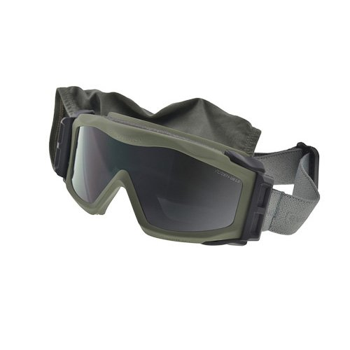 Optx 20/20 Eyedefend US Armor Safety Military Ballistic Goggles with Rx Insert, Army Green (Includes 2 lens options smoke and - Sunglasses Safety Rx