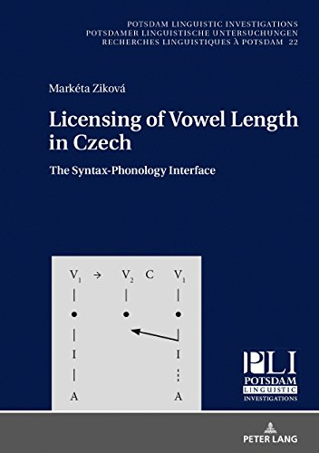 Licensing of Vowel Length in Czech: The Syntax-Phonology Interface
