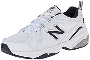 New Balance Men's MX608V4 Training Shoe,White/Navy,10.5 4E US