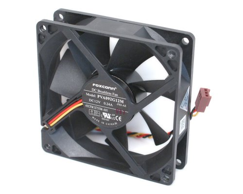 Price comparison product image Foxconn PVA092G12M DC12 Volt 0.24 Amp, Rear Case Brushless Cooling Fan 92mm x 92mm x 25mm, 3-WIRE/3-PIN CONNECTOR