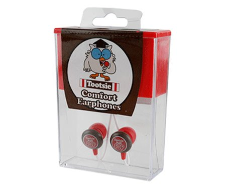 Candy Comfort Earphones Tootsie Pop3.5mm Stereo Headsets (Discontinued by Manufacturer) -