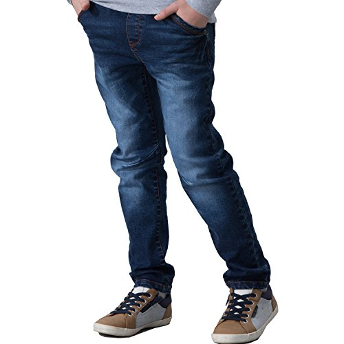 Leo&Lily Big Boys' Jeans, Navy, 12 by Leo&Lily (Image #2)