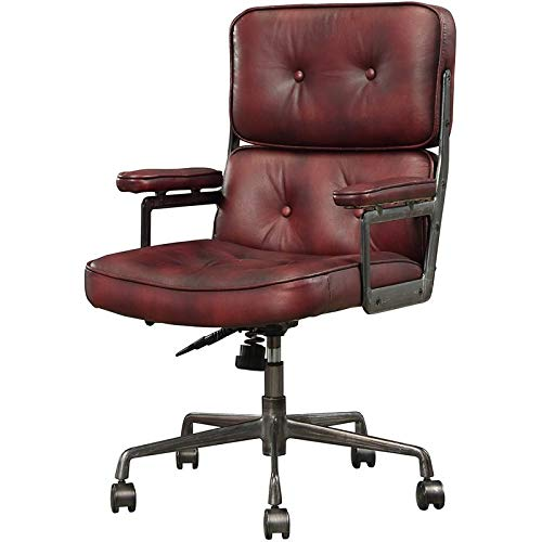 Executive Arm Office Chair in Vintage Merlot ()