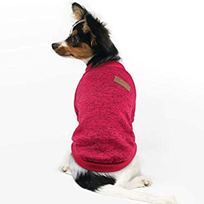 Idepet Pet Dog Classic Knitwear Sweater,Fleece Coat for Small,Medium,Large Dog,Warm Pet Dog Cat Clothes,Soft Puppy Customes from Idepet