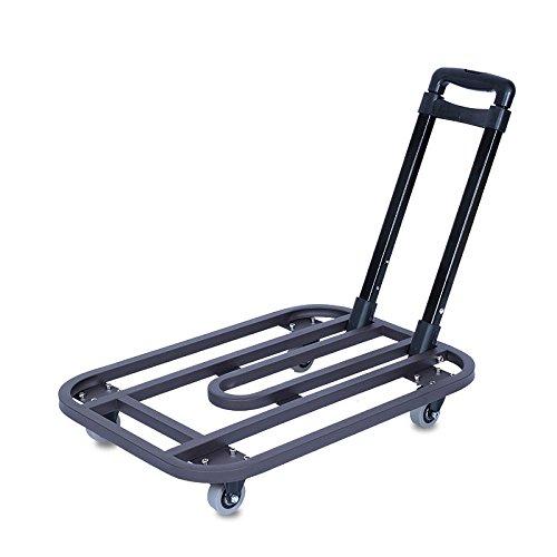 階段ショッピング荷物折りたたみ式ハンドリング用品ポータブルサイレントホイールカートは225Kgの重量を許容できます (色 : ブラウン ぶらうん, サイズ さいず : 2-inch wheel) B07DWJP74F 2-inch wheel ブラウン ぶらうん ブラウン ぶらうん 2-inch wheel