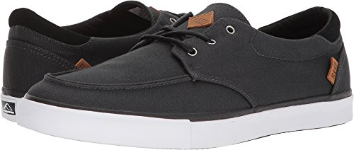 REEF Deckhand 3 | Premium Shoes for Men with Classic Styling for Street, Skate, or Surf Sneaker, Black/White, 12 M US