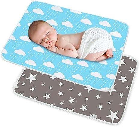 SACONELL 2 Pack 50 cm x 70 cm portátil bebé pañales cambiador ...