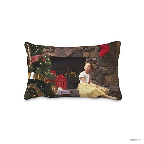 Caiemreo Best Gift Home Decorations Christmas Ornaments Gift Fireplace Child Girl Pillow Shams Standard Twin Sides Zip Pillow Cushion Covers by Caiemreo