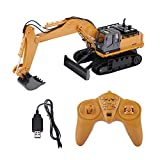HUINA RC Excavator,1510 11 Channels Remote Control Construction Toy Bulldozer Vehicle Model Electric RC Engineering Car Toys for Kids