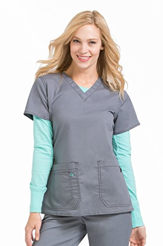 Med Couture Women's MC2 Olivia Top, Steel, X-Large from Med Couture