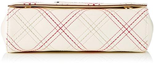 Love Moschino Damen Schultertasche, Elfenbein (Ivory), 9 x 16 x 28 cm
