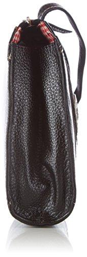 Werner Trachten 05486 - Bolso de hombro de cuero mujer negro - Schwarz (Schwarz 301)