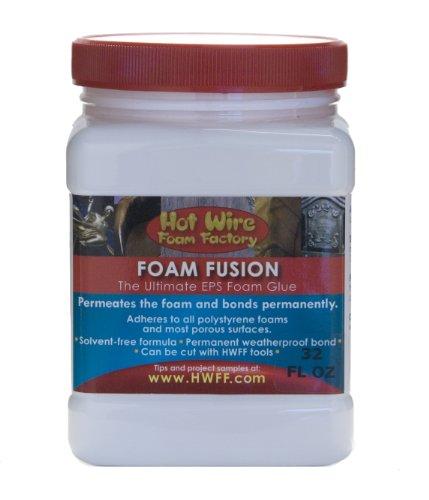 Hot Wire Foam Factory Brush-On Foam Fusion Glue, 32-Ounce