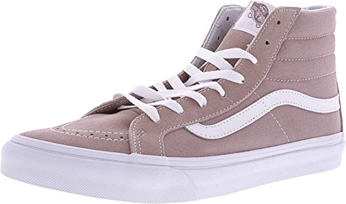 Vans Sk8-Hi Slim Suede and Canvas Ankle-High Skateboarding Shoe Fawn / True White anaQ8uQ
