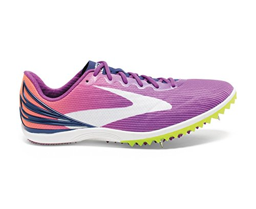 BROOKS Ladies Mach 17 Spike Running Shoe, Purple, UK5