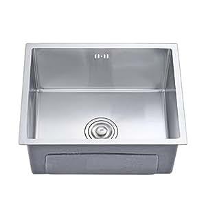 AuraLum Undermount Kitchen Sink Single Bowl (19.68 x 15.75 x 8.66 ...