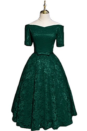 Spitze Ivydressing Aermel Linie Promkleid Kurz A Festkleid Kurz Damen Partykleid Abendkleid Dunkelgruen Elegant 4InqrwITO