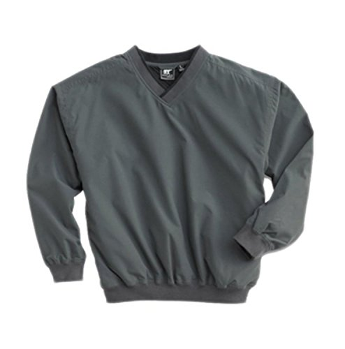 White Bear Men's Microfiber Windshirt, Medium, Charcoal ()