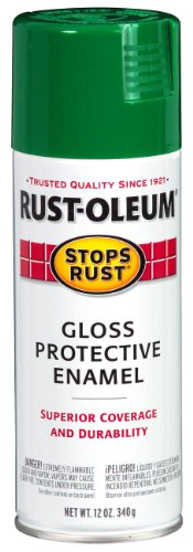 - Rust-Oleum 248569 Stops Rust Spray Paint, 12-Ounce, Gloss Emerald