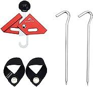 SM SunniMix Adjustable Tarp Pole Tip Caps Single Person Tent Building Pole Connector Holder Shelter Canopy Rip