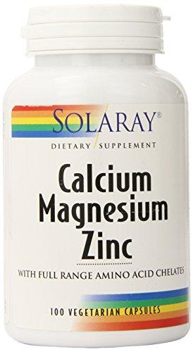 Solaray® Calcium, Magnesium, Zinc | High Absorption with Gl