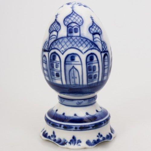 Porcelain Easter Egg Gzhel Porcelain (Chinese Painted Egg)